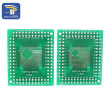 10PCS QFP/FQFP/LQFP TQFP 32 / TQFP44 / TQFP64 / TQFP80 TQFP100 0.5MM 0.8MM IC adapter Socket / Adapter plate / PCB