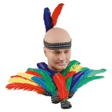 Fancy Retro Indian Feather Headband Native American Random Colors Headbands
