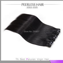 Top Selling  7A Peruvian Virgin Silky Straight Hair 4Pcs Lot Free Fast Delivery By DHL Human Virgin Hair Extension Weave