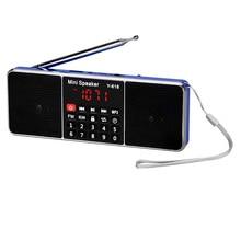 2017 Portable Rechargeable Stereo Digital LCD FM Radio Speaker Stereo Audio Speaker MP3 Music Player USB AUX TF Loudspeaker