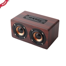 KAILUODA Retro Wood Wireless Bluetooth Speaker Portable Speaker bluetooth altavoz Mini 3D Dual Loudspeakers USB Charging