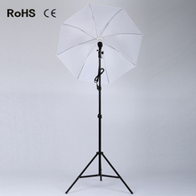 Photographic equipment 2m light stand +E27 single lamp horlder socket + 45W photography lights+33 inch soft umbrella