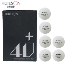 Huieson 6Pcs/Pack Table Tennis Balls 40+ Seamless New Material 2.8g Ping Pong Ball for Table Tennis Training