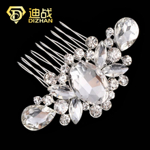 Top Quality Luxury Flower Crystal Rhinestones Diamante Hair Comb Slide Clip Bridal Wedding Prom Hair Accessories