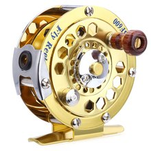 BF600 Portable Aluminum Cut Fly Fishing Reels Vessel Aluminum Fishing Reels Gold Disk Drag with Retail Box
