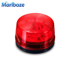 DC12V Red Mini Wired Strobe Siren Signal Warning Light Flash Siren LED Lamp Highlight Alarm Lamp for Home Security Alarm System(China)