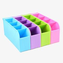 New 1Pc multifuction Plastic Organizer Storage Box For Tie Bra Socks Drawer Cosmetic Home Supplier 4 Color Wholesale