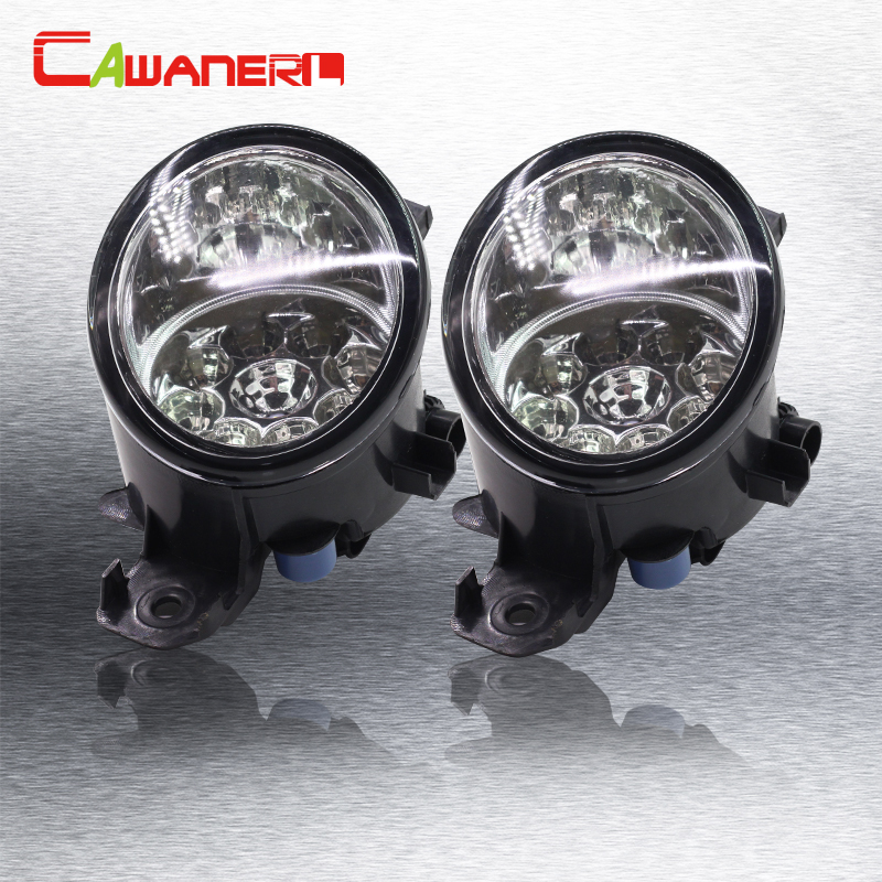 Cawanerl 2 x Car Left + Right Fog Light LED Light Daytime Running Light For Nissan March Geniss NV3500 Ma Chi Rogue NV400 Urvan<br>