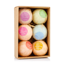 6 Flavor Bath Bomb Natural Handmade Bath Salt Ball Body Fatigue Relieve Cuticle Soften Skin Care Body Cleaner SPA Gift Box(China)