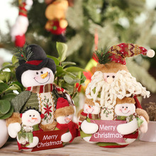 Festnight Lovely Adorable Christmas Doll Santa Clause Snowman Cloth Doll Plush Toy For Kid Favor Gift Christmas Decoration