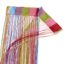 1pcs 7 Mixed Colors String Curtain Line String Window Curtain Cortinas  Low-elastic yarn Window Curtains 200cm x 100 cm