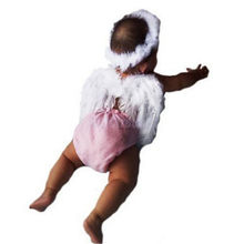 Newborn Baby Headwear Kids Fairy Angel Wing Feather Headbands Costume Photo Prop For Gift Present Party PA870565(China)