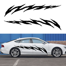 2 X Personalized Jumping Tracks Tear Scratches Artistic Streak Car Sticker for Camper Van Canoe Car Cover Vinyl Decal 10 Colors