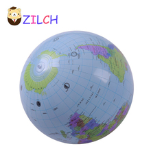 Environmental Protection PVC 30CM Early Educational Inflatable Earth World Geography Globe Map Balloon Toy Beach Ball
