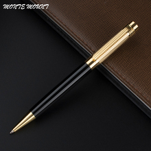 MONTE MOUNT High Quality Luxury Golden hat black Business Office Medium Ballpoint Pen New