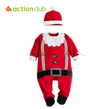 Actionclub Hot Cotton Baby Costume Christmas Bodysuit Newborn Baby Boy Kids Jumpsuit Infantil Winter Clothing Baby Pajamas(China)