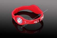 Power Energy Hologram color red Bracelets Wristbands Balance Ion Magnetic Therapy Fashion Silicone Bands
