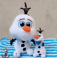 New 20cm Q version Olaf Plush Toys Movie and TV Dolls Soft Stuffed Animals Snowman Olaf Doll Birthday Gift for Children(China)