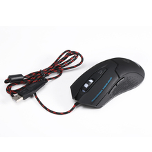 6D Buttons LED Optical USB Gaming Mouse 3200 DPI Adjustable Wired Mice Gamer Mouse for Computer/Notebook/ Windows 10/8.1 /mac OS