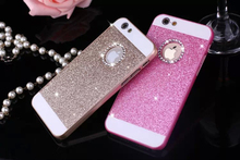Bling Bling Crystal Fashion Shinning Case Diamonds Glitter Protector Cell Phone Back Cover For apple iphone 4 4s +Logo Window