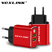 USB Wall Charger,VOXLINK 5V3.1A Universal Portable Dual Ports USB Travel Wall Charger Adapter EU Plug for iPhone iPad Samsung(China)
