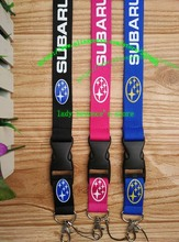 Free shipping 30pcs/lot SUBARU car lanyards mobile phone neck key chains straps accessory L-1401