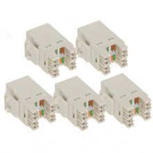 5pcs Ethernet Jack CAT5 CAT5e CAT6 Network Tool RJ45 CAT6 Module Network Cable Plugs Punch Down DIY Part Electrical Plug Adaptor(China)