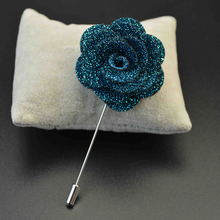 Fashion One Piece Men's Charm Corsage Brooch Pin spille donna hijab Wedding Jewelry Clothes(China)
