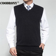 2016 New Autumn Winter Cashmere Classic Vest Sweater Men Sleeveless Sweaters Solid Color V-Neck Wool Pullovers Men Jersey Hombre