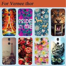 "Vernee thor Case Cover 2017 New Cool Pattern Tiger Owl Rose Eiffel Towers Design Hard PC Case For Vernee thor 5.0"" Cover Bags"