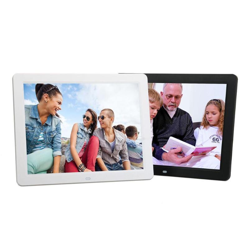 ALLOYSEED 12 Inch Digital Photo Frame 1280X00 HD LED Video Display Electronic Album Picture USB MP3 Music Player Clock Calendar 25