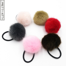 PRETTY KITTY 2pc/lot Artificial fur Kinds Elastic Hair Bands Rubber Bands Hair Accessories for Girls Women Headwear(China)