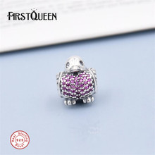 FirstQueen Christmas Turkey Charm Crystal Beads Fits Original 925 Sterling Silver bracelet Pulsera bisuteria para manualidades(China)