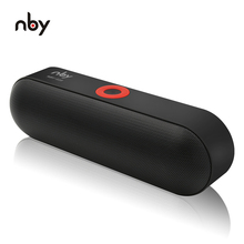NBY S18 Portable Bluetooth Speaker with Dual Driver Loudspeaker,12 Hours Playtime,HD Audio Subwoofer Wireless Speakers with Mic(China)