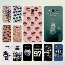Bangtan Boys BTS Korean Hip Hop Kpo design hard White Case cover Samsung Galaxy J5 2017 J7 2016 J3 J2 J1 C7 C9Pro E5 E7 - Yomic store