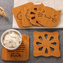 Animal Hollow Wooden Carved Mug Coasters Tea Cup Mat Table Decor Pad Shop Bar Tea Coffee Holder
