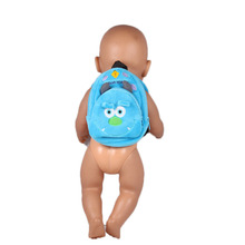 Doll Accessories,Blue Bag For 43cm Baby Born Zapf Doll Animals Pig School Bag Born Zapf Doll Bags For Children 1--23(China)