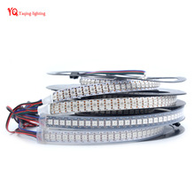 1m/2m 5V APA102 144 leds/m Black/White PCB Pixels LED Strip 5050 rgb smd, IP30/IP65/IP67 APA102C data and clock seperately