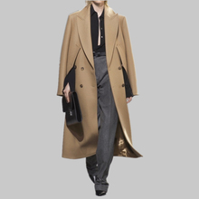 2018 Autumn and winter new products European and American fashion temperament lapels a long style of wear hair coat c618(China)