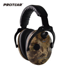 Protear Snake Printed Electronic Ear Protection Shooting Ear Muff Tactical Headset Hearing Ear Protection Ear Muffs for Hunting(China)