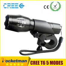 New Bicycle Light 7 Watt 3800 Lumens 5 Mode CREE T6 LED Bike Light Front Torch Waterproof + Torch Holder