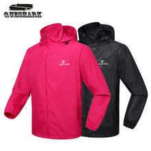 Men Women Cycling Rain Coat Long Sleeve Hooded Jacket Camping Hiking Skin Coat Outdoor Sport Riding Bike Bicycle Windbreaker