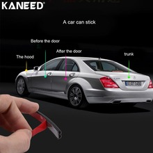 KANEED Car Seal Strip Rubber Car Sealing Strip 4m B Shape Car Decorative Strip Rubber Chrome Decoration Door Window Sealants(China)