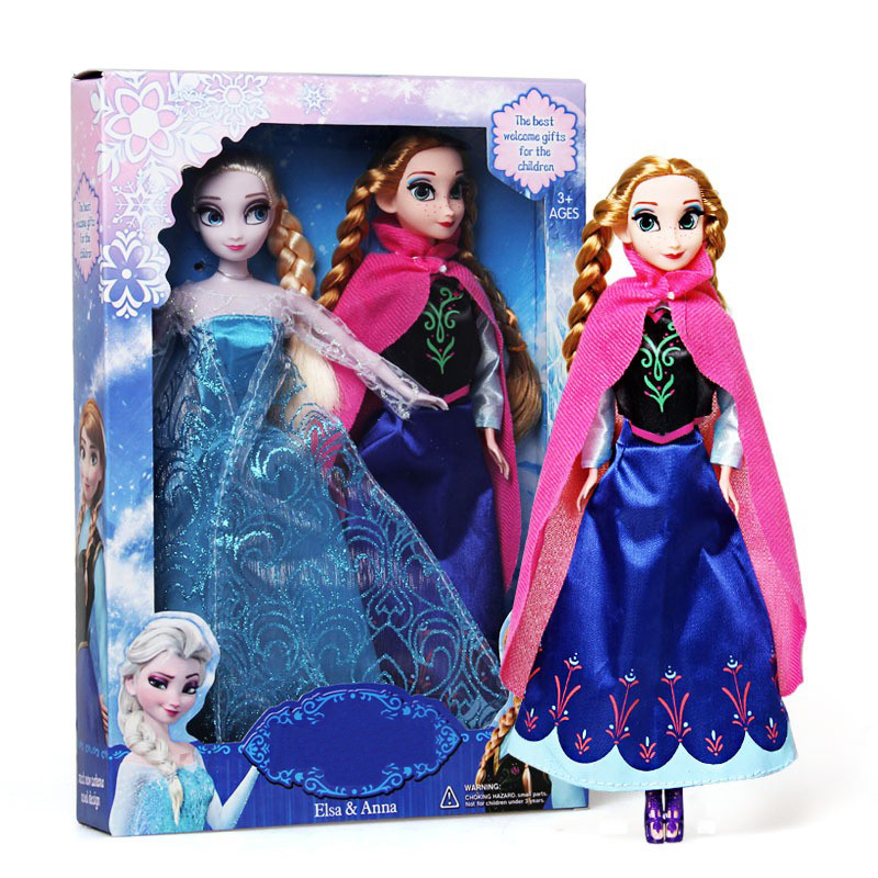Hot Sale Girls Toys 29cm Princess Anna And Elsa Doll 2pcs/lot Boneca Baby Toy New 2016 Disny Princess Doll Juguetes<br><br>Aliexpress