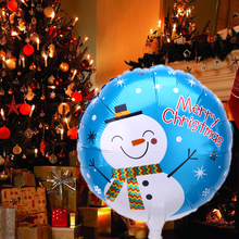1Pcs Christmas Aluminum Foil Balloons Inflatable Snowman Christmas Tree Santa Claus Balloons Party Christmas Decoration(China)