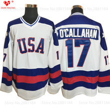 2017 Dwayne Mens Usa Ice Hockey Jersey Vintage 1980 Miracle On Ice Team USA O'Callahan 17 Winter Sport Wear White