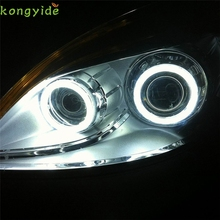 New 2pcs White 100MM COB LED Angel Eyes Headlight Halo Ring Warning Lamps with Cover car accessories car-styling fashion