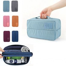 Travel Toiletry Underwear Divided Pouch Makeup Organizer Trip Handbag Luggage Traveling Bag Pouch Case Suitcase Space Saver Bag