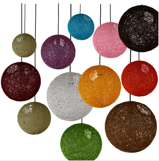 Colorful Ma Rattan Ball LED String Fairy Lights Wicker Pendant Light For Christmas Xmas Wedding decoration Party bar aisle lamps<br>