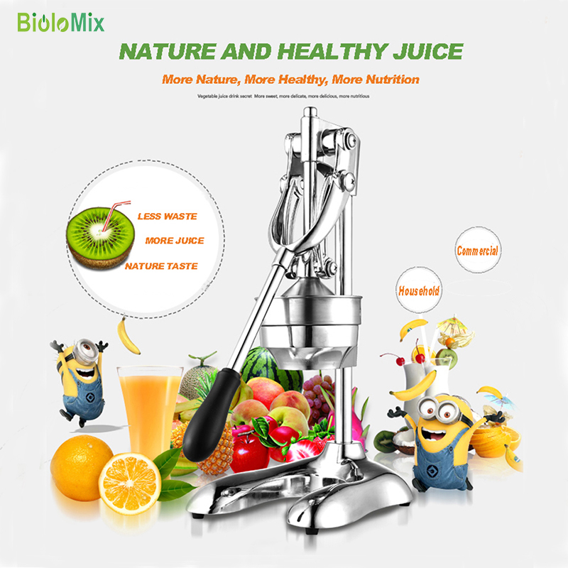 Stainless Steel manual hand press juicer squeezer citrus lemon orange  pomegranate fruit juice extractor commercial or household-4